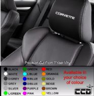 Corvette Logo Car seat Decals